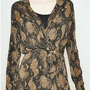 Tahari Snakeskin print dress